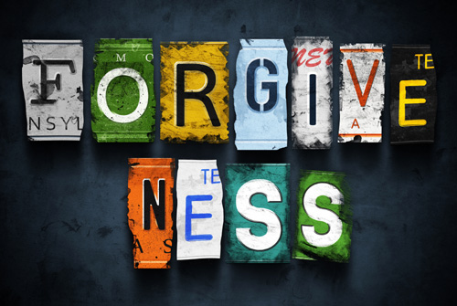 Forgiveness spelled out