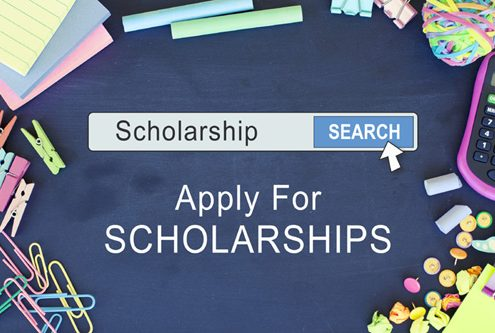 Scholarship search screenshot